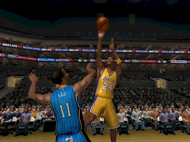 Kobe Bryant taking a fadeaway