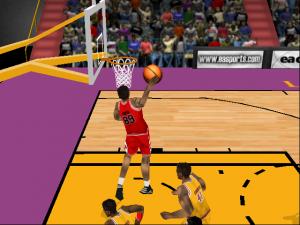 Michael Jordan As A Roster Player In Nba Live 98