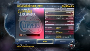 NBA 2K12: Online Association - League Home