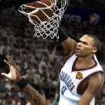 Russell Westbrook dunks in NBA 2K12