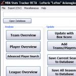 NBA Stats Tracker