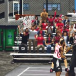 Wade elevating on a street rooftop court, by buzzy.