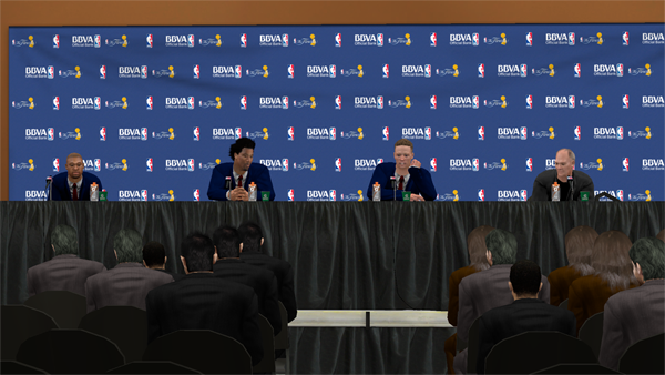 Press conferences also see their fair share of triplets.