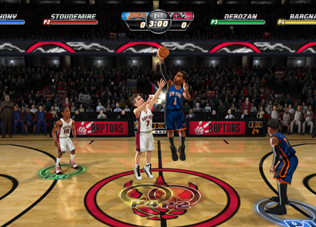 Knicks vs Raptors in NBA Jam: On Fire Edition