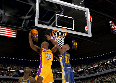 Shaquille O'Neal in NBA Live 2000