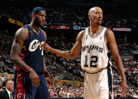 LeBron James & Bruce Bowen in the 2007 NBA Finals