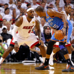 LeBron James & Kevin Durant in the 2012 NBA Finals