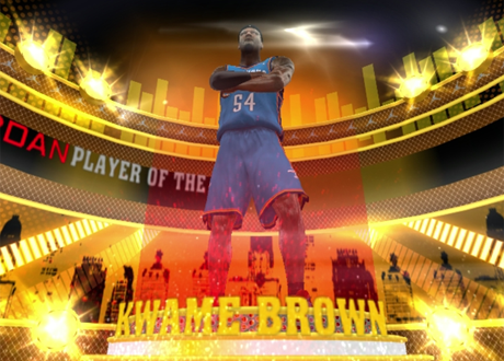 Kwame Brown Player of the Game in NBA 2K13's Creating a Legend