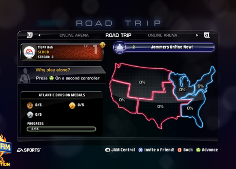 Road Trip in NBA Jam: On Fire Edition