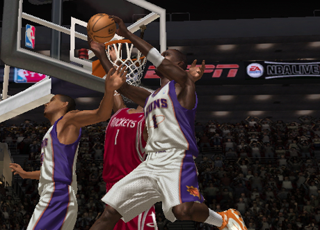 Amar'e Stoudemire dunking in NBA Live 07