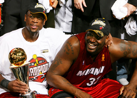 Dwyane Wade & Shaquille O'Neal in the 2006 NBA Finals