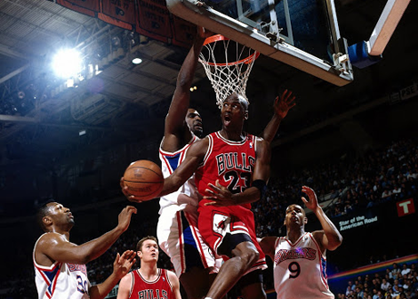 MIchael Jordan Reverse Layup vs. the Philadelphia 76ers