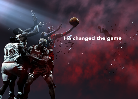 "MIchael Jordan ""He Changed The Game"" Screen in NBA 2K11"