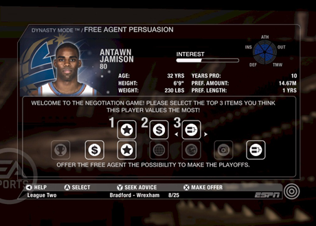NBA Live 08 Dynasty Screenshot