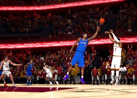 Screenshot from the NBA Live 14 CGI E3 2013 Trailer