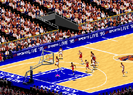 Bulls vs Knicks in NBA Live 95