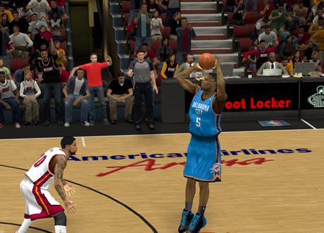 Kendrick Perkins for THREE! in NBA 2K13
