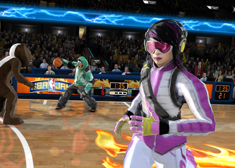 SSX Characters in NBA Jam: On Fire Edition