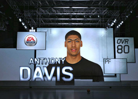 Anthony Davis' Overall Rating from the NBA Live 13 Draft Preview