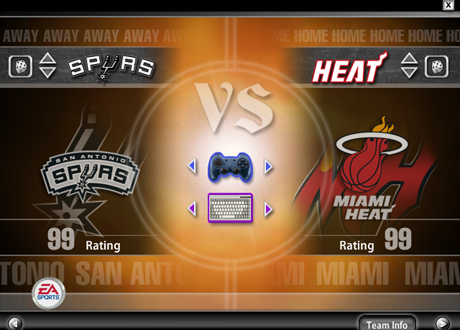 Team Overall Ratings in the NLSC Rosters for NBA Live 2005