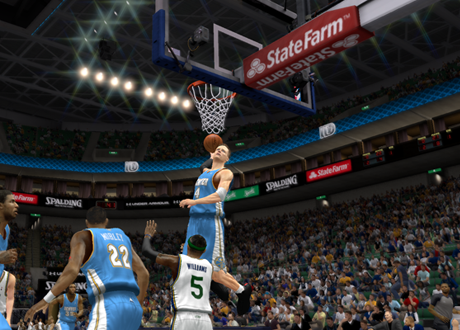 A-Train dunks in NBA 2K13's MyCAREER Mode