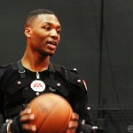 Damian Lillard during the NBA Live 14 Mo-Cap Session