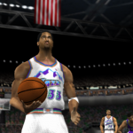 Scottie Pippen on the Utah Jazz in NBA Live 2002