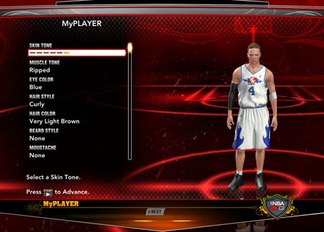 Creating a MyPLAYER in NBA 2K13
