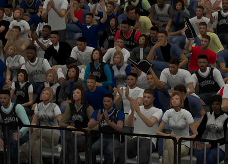 The Brooklyn Nets' Crowd in NBA 2K14 PC