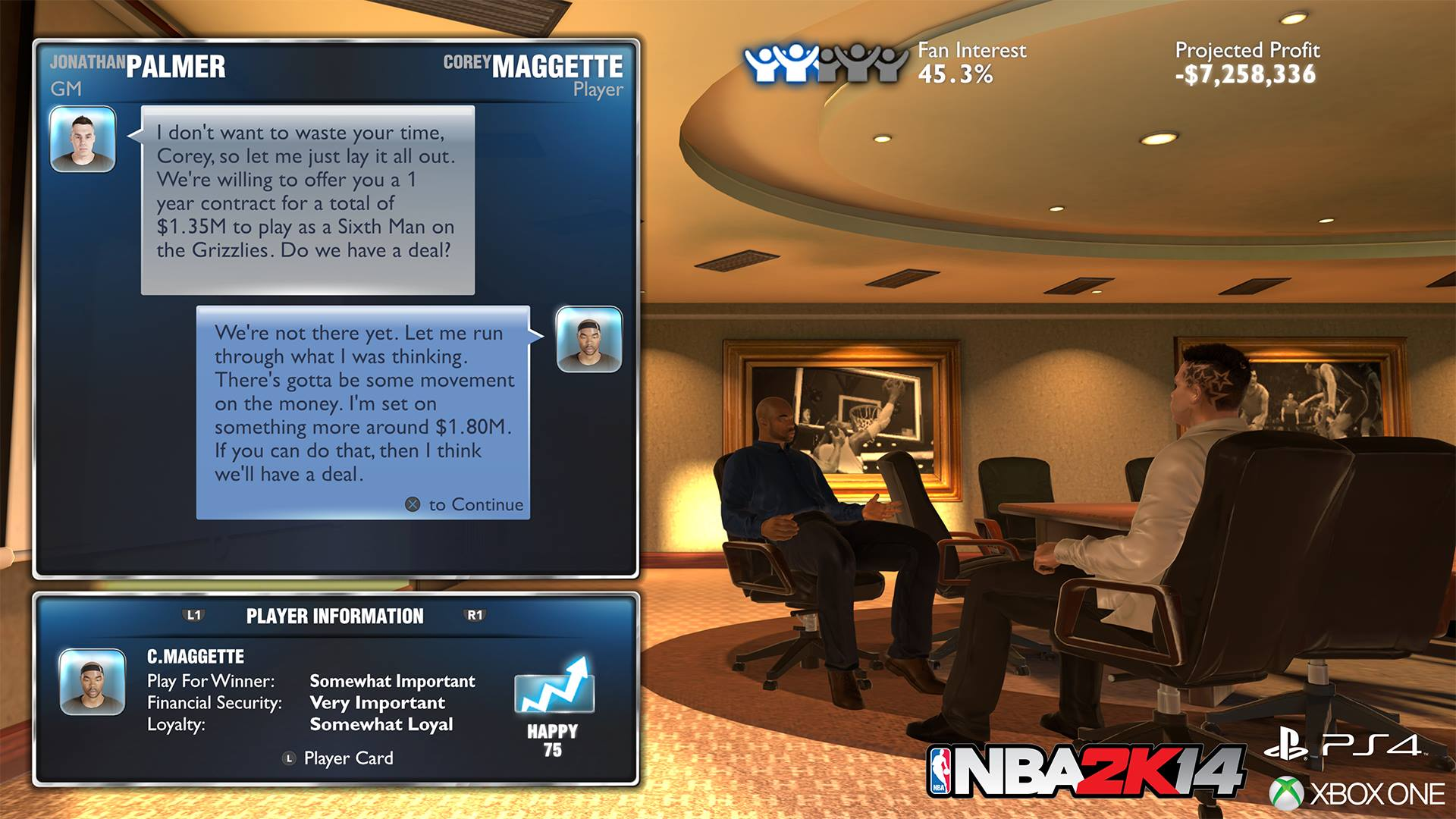 NBA 2K14 Next Gen: MyGM