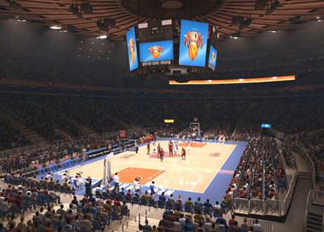 The Cavs and Knicks at Madison Square Garden in NBA Live 14