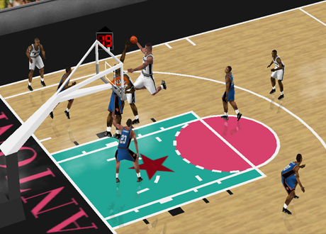 Arcade Mode in NBA Live 2000 on Nintendo 64