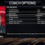 NBA Live 14: Coach Options