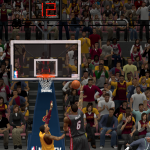 LeBron James lays it in against the Cleveland Cavaliers in NBA 2K14 PC