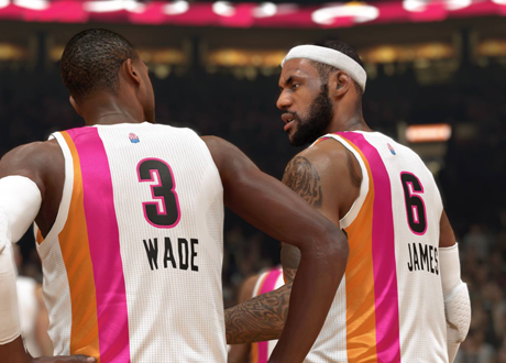 LeBron James and Dwyane Wade in NBA 2K14 Next Gen