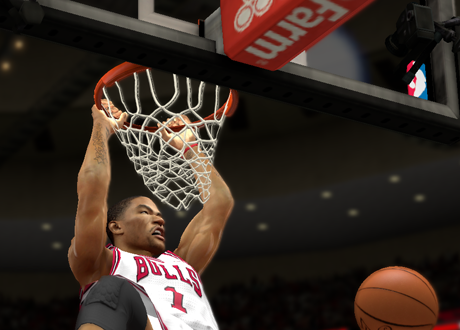 Derrick Rose dunks in NBA 2K14 PC