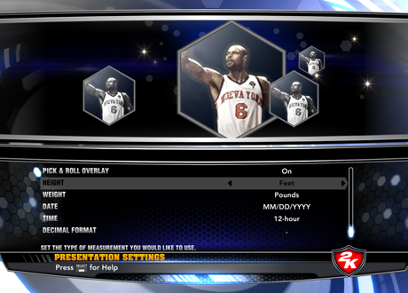 Presentation Settings in NBA 2K14