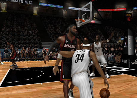 Paul Pierce & Kevin Garnett on the Brooklyn Nets in NBA Live 08