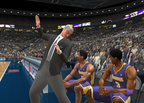 Courtside Comedy in NBA Live 2003