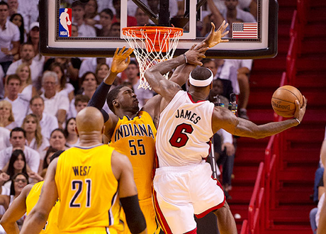 Miami Heat vs. Indiana Pacers in the 2013 Eastern Conference Finals