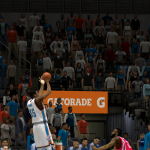 Kevin Durant from downtown against the Rockets in NBA 2K14 PC