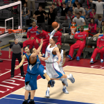 Blake Griffin dunks over Nikola Pekovic in NBA 2K14 PC