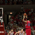 Matt Barnes knocks down a three against the Chicago Bulls in NBA 2K14 PC