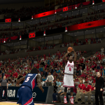 Luol Deng shoots the jumper against the Hawks in NBA 2K14 PC