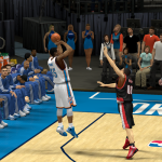 Kevin Durant fires away against the Portland Trail Blazers in NBA 2K14 PC