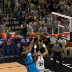 Kevin Durant lays it in against the Spurs in NBA 2K14 PC