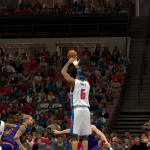 Josh Smith shoots a jumper against the Suns in NBA 2K14 PC