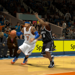 Carmelo Anthony drives past Alan Anderson in NBA 2K14 PC