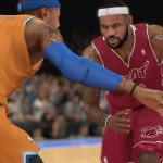Carmelo Anthony & LeBron James sporting new jerseys in NBA 2K14 Next Gen