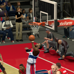 John Wall with the layup against the Raptors in NBA 2K14 PC